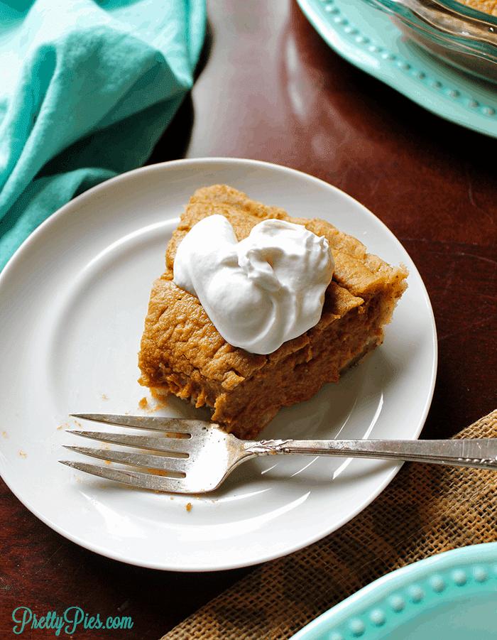 Low-Carb Pumpkin Pie (Vegan, Paleo) PrettyPies.com