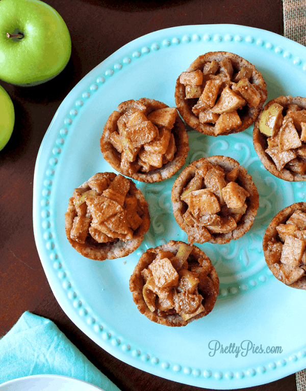 Apple Pie Cookie Cups (Gluten/Dairy/Sugar-Free) PrettyPies.com