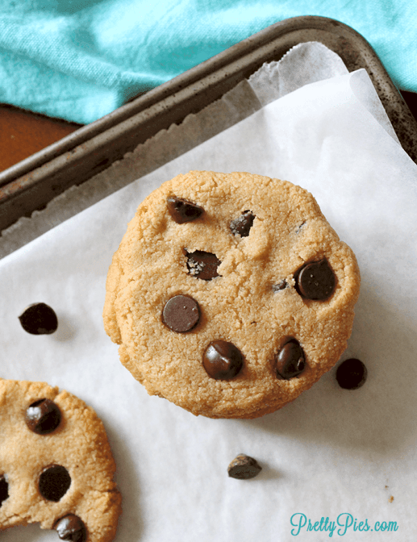 Chewy Chocolate Chip Cookies (Keto, Paleo, Vegan) PrettyPies.com
