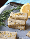 Lemon Rosemary Shortbread Cookies (Keto, Paleo, Vegan) PrettyPies.com