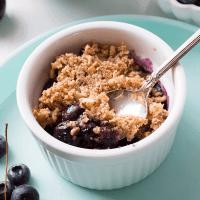 Low-Carb Berry Cherry Crisp (Grain-Free, Sugar-Free, Paleo, Vegan)