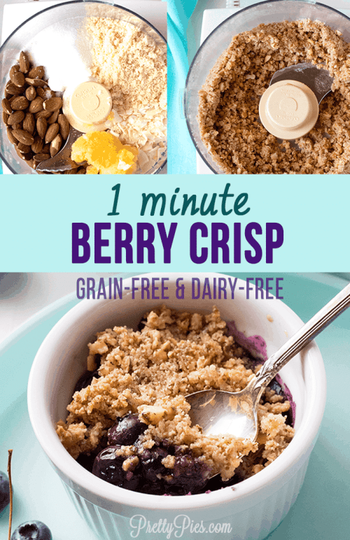 1-Minute Berry Crisp (Paleo, Vegan, Low-Carb) PrettyPies.com