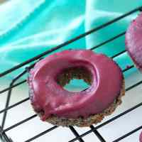 Low-Carb Blueberry Cake Donuts with Blueberry Glaze (Dairy-Free, Gluten-Free, Sugar-Free, Paleo, Vegan)