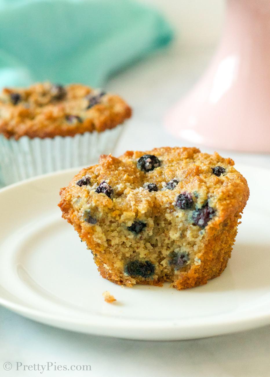 Low-Carb Blueberry Muffins (Paleo, Vegan)