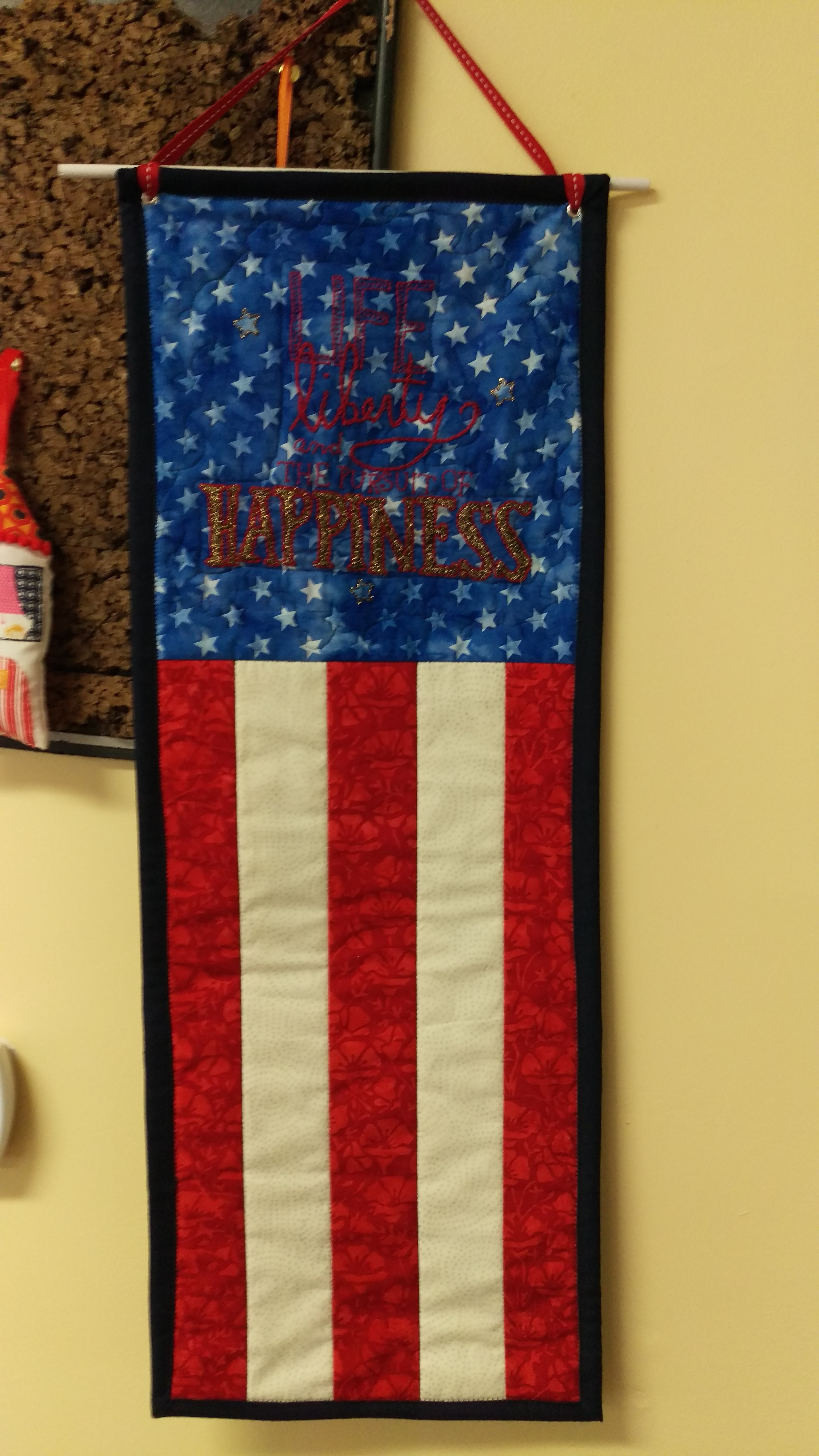 quilted flag banner