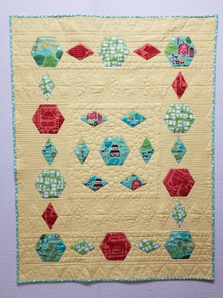 wholecloth baby quilt applique