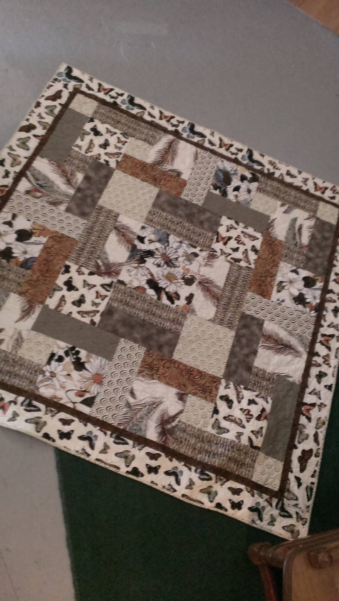 butterflies and feathers quilt