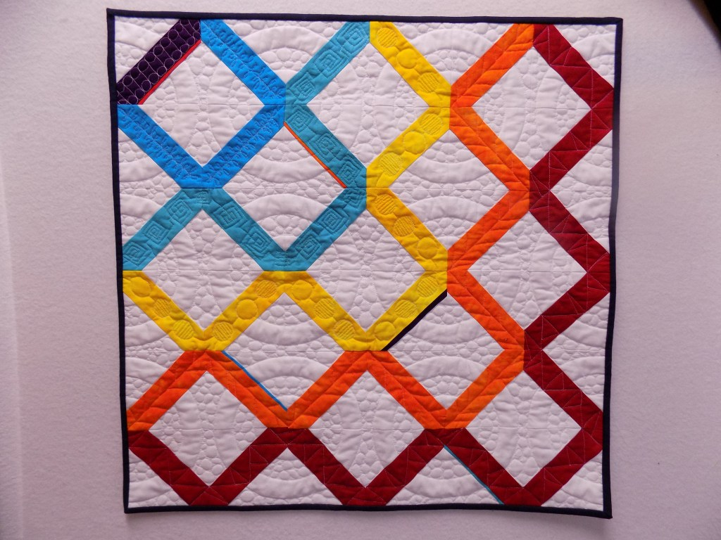 MQG swap quilt hand-dyed fabrics free motion quilting
