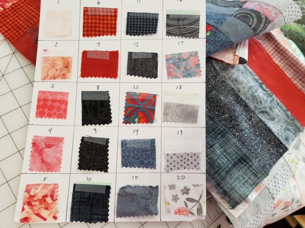 bargello fabric map