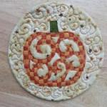 mug rug pumpkin