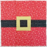 quilt-a-long block three santa belt