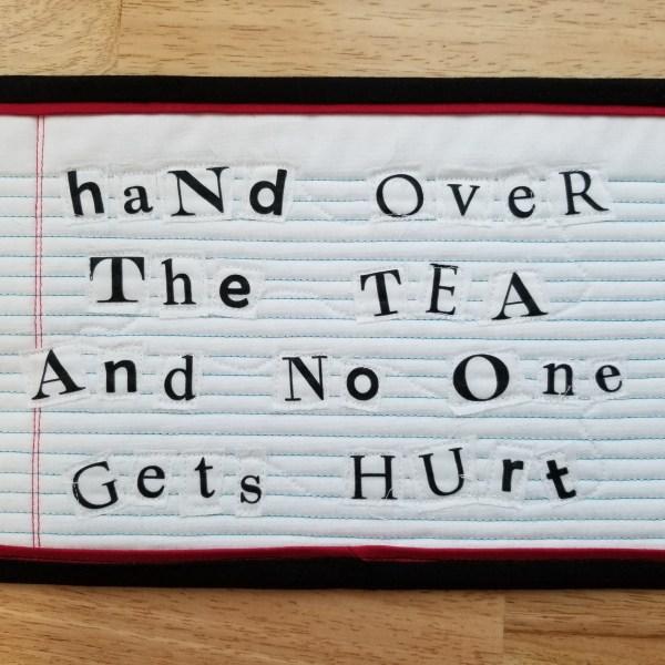 ransom mug rug tea