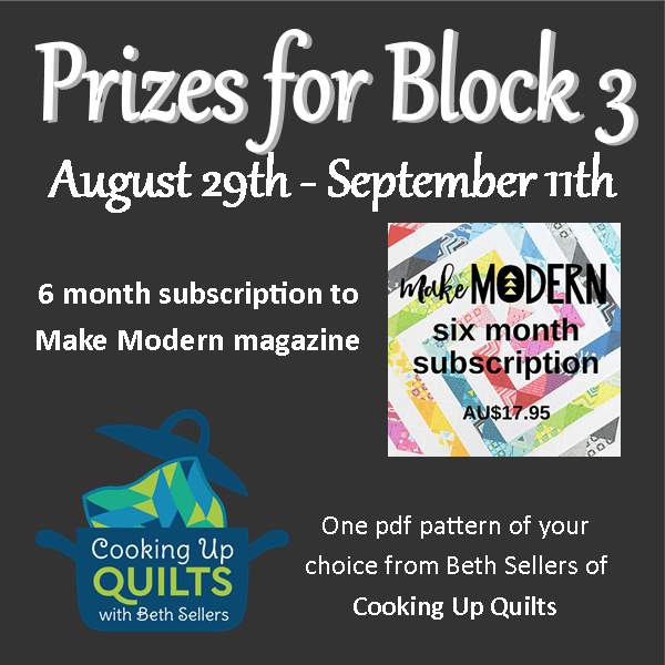quilt-a-long block three prizes