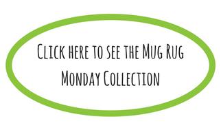 mug rug button