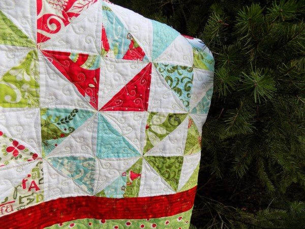 folded finished quilt