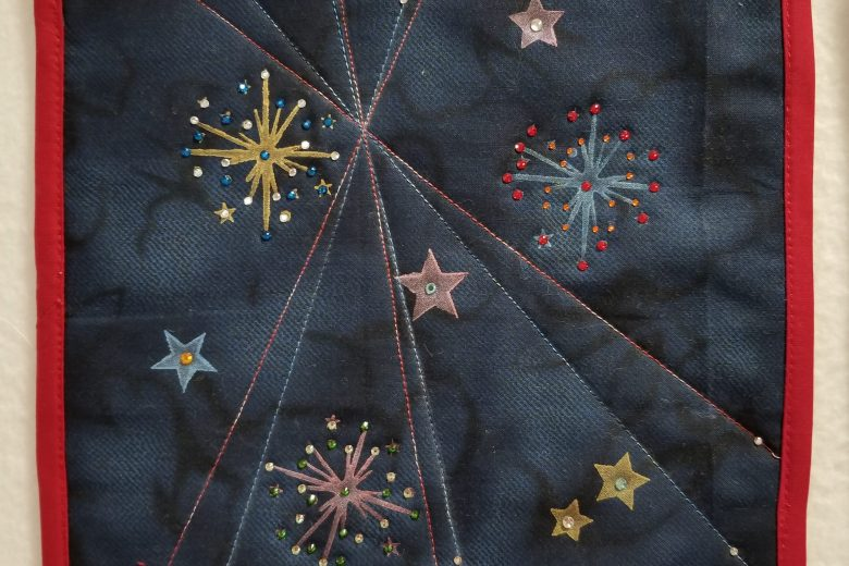 fireworks mini quilt