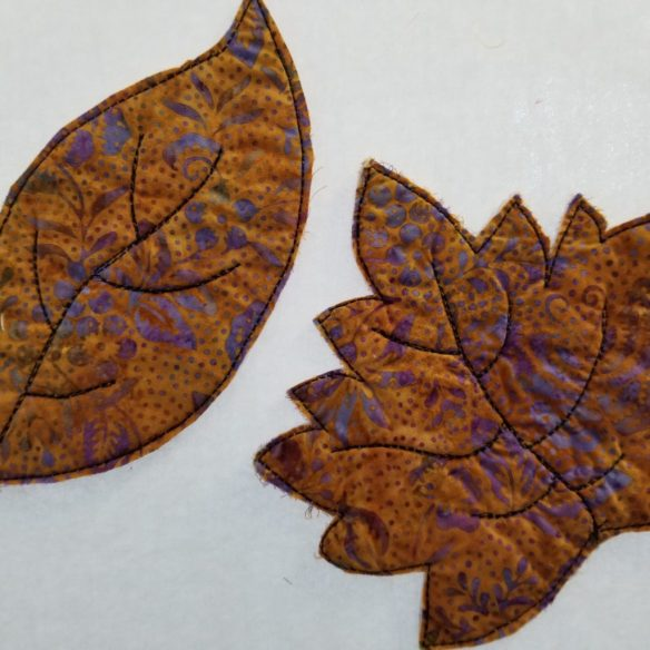 Raw Edge Leaves Mug Rugs