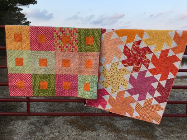 Two Orange Quilts