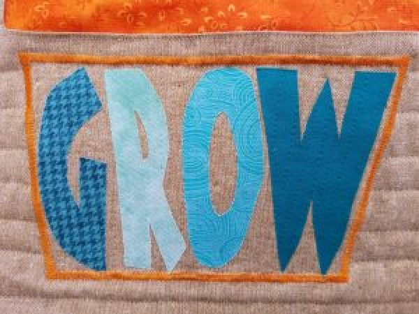 GROW Applique Flowerpot