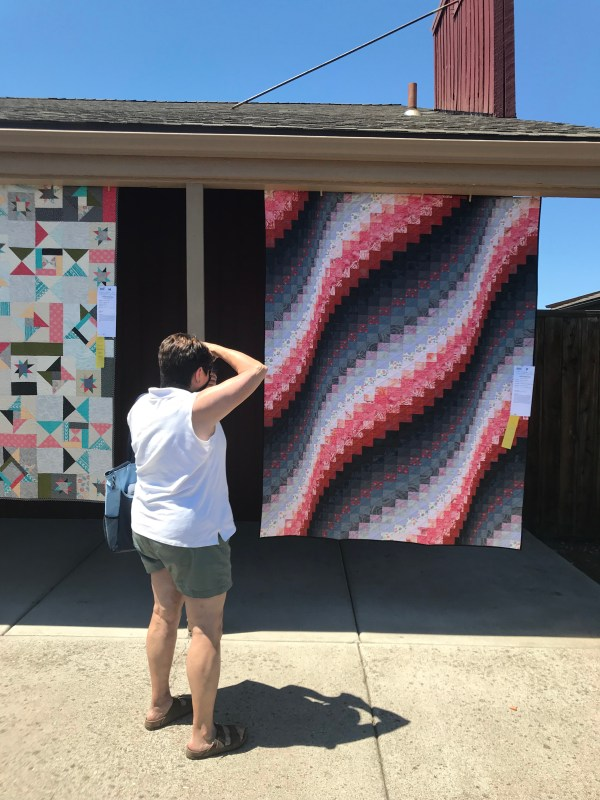 I Didn't Want to Make This Quilt Bargello at Sisters Outdoor Quilt Show