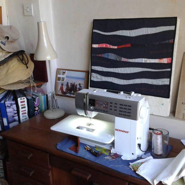 Skipping Stones Quilt for International Miniature Quilt Exchange