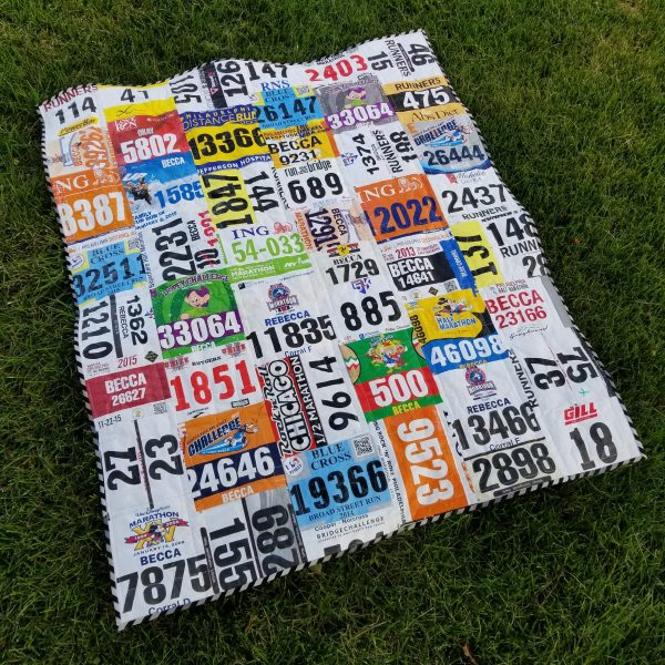 What I Made Monday Race Bib Quilt
