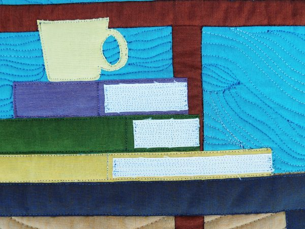 """Detail of """"Beach Reading"""", by Becca Fenstermaker of Pretty Piney Quilts"""