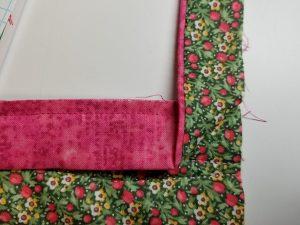 Folding binding corner
