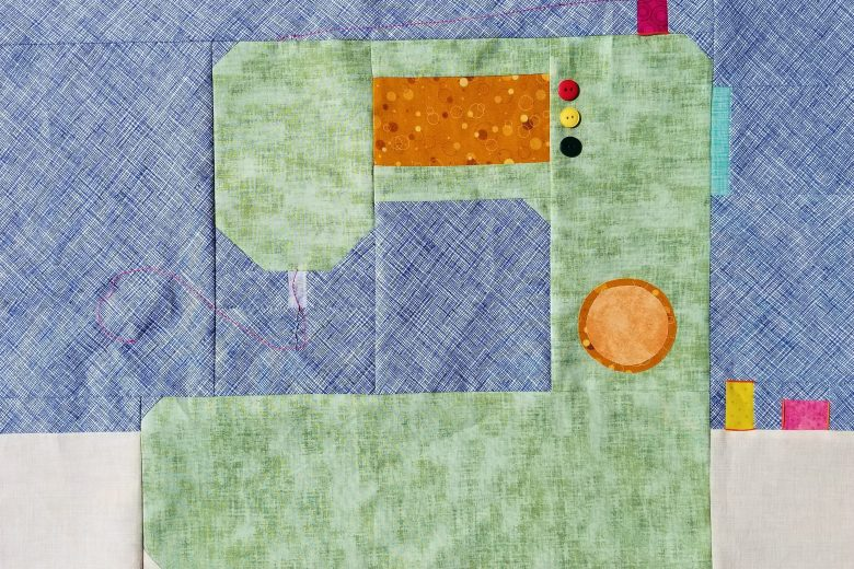 Sew Let's Quilt Along Block One Sewing Machine Quilt Block