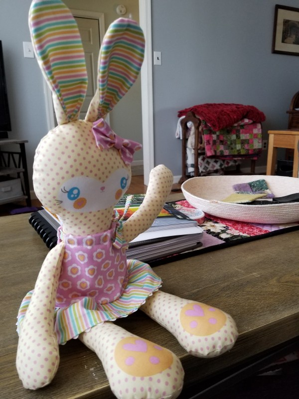 What I Made Monday stuffed bunny