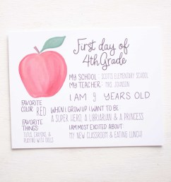 Apple First Day of School Sign [ 2620 x 2096 Pixel ]