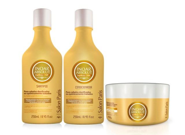 INOAR DayMoist 250ml shampoo conditioner mask