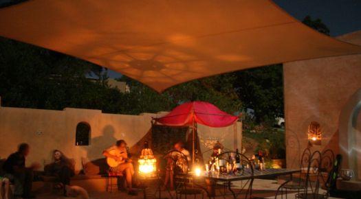 Akasha Mountain Retreat courtyard