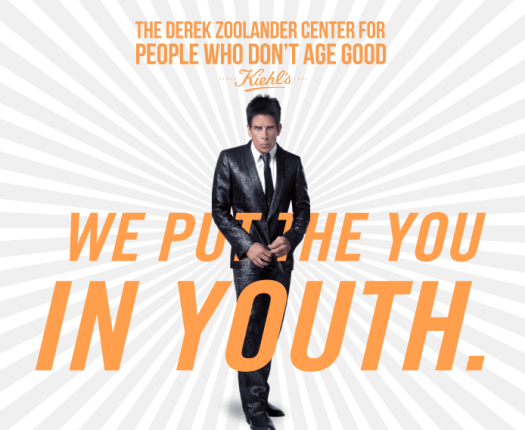 Derek Zoolander and Kiehl's team up to help people who don't age good Pretty Please Charlie