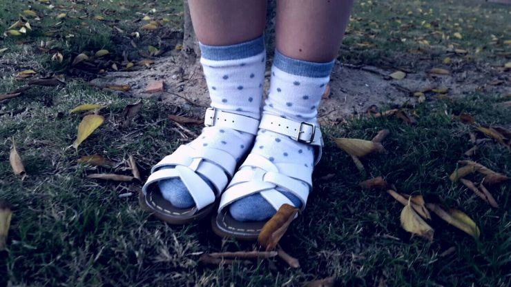 Saltwater sandals and socks