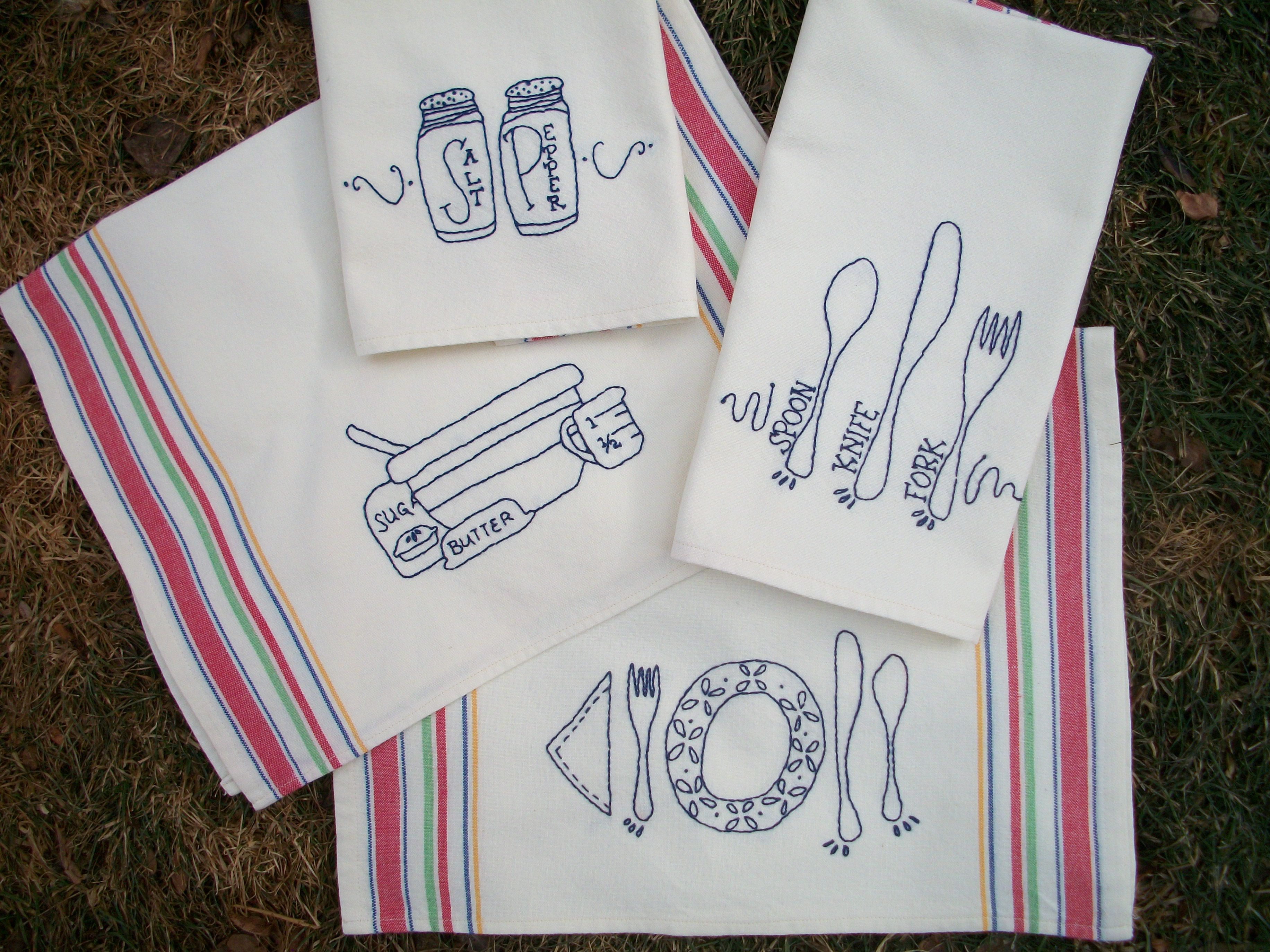kitchen tea towels soft flooring options new towel embroidery pattern pretty p and mama