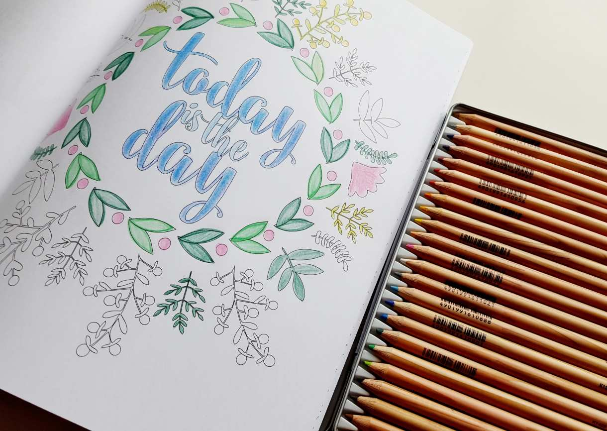 Finally, a coloring book that marries my love for lettering and an un-overwhelming amount of detail! // www.prettyprintsandpaper.com
