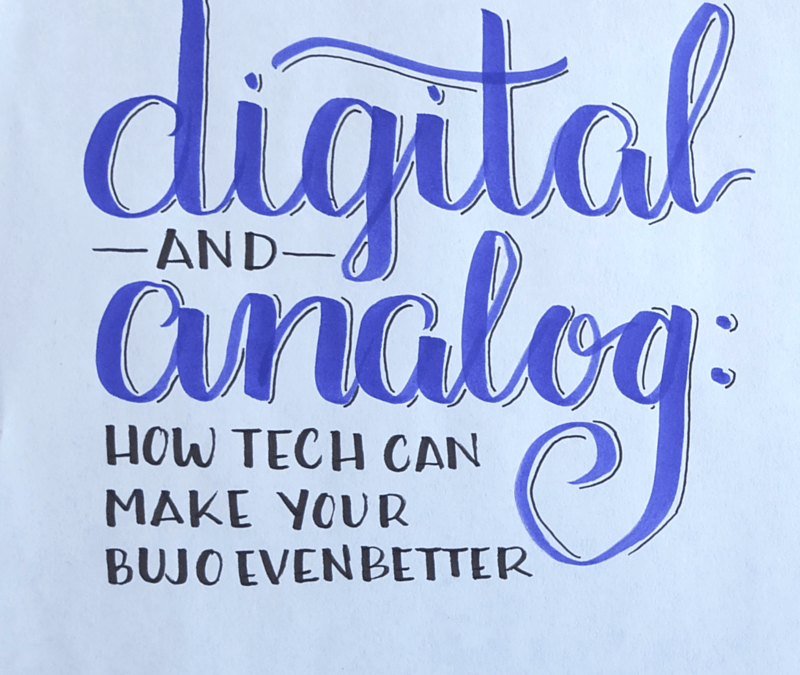 Infuse technology into your bullet journal to make it an even more powerful tool // www.prettyprintsandpaper.com