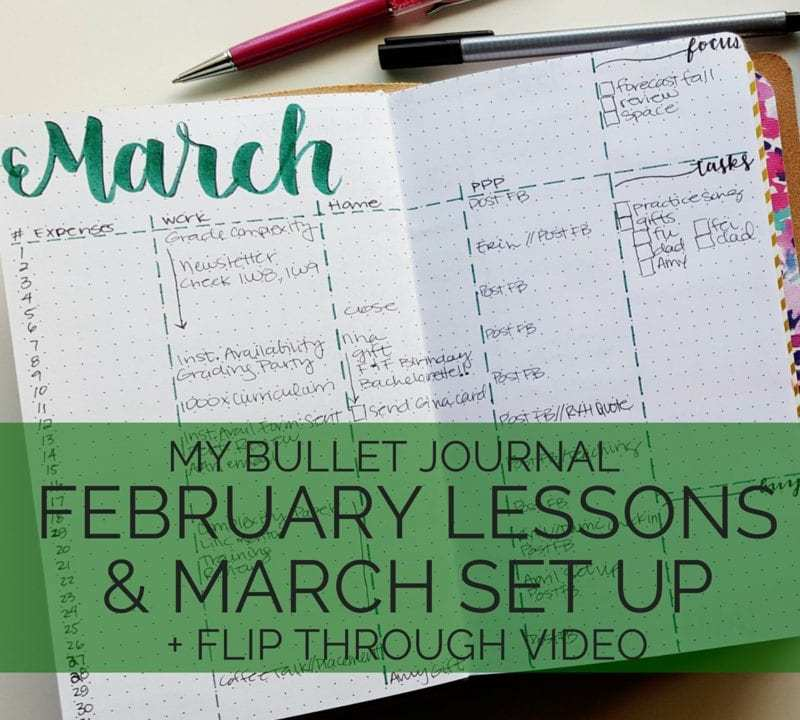 What I'm keeping and shaking up in March in my bullet journal // www.prettyprintsandpaper.com