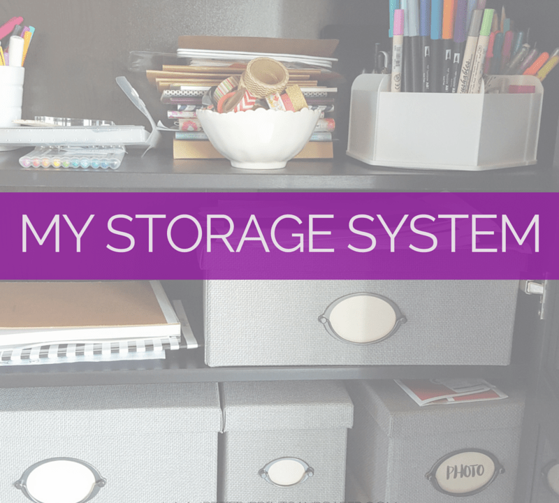 A peek into my storage system for my crafting and stationery supplies // www.prettyprintsandpaper.com