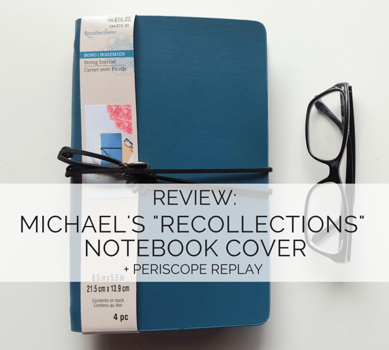 Curious about that new $15 Notebook Cover from Michael's? Is this the perfect starter traveler's notebook for you? Find out! // www.prettyprintsandpaper.com