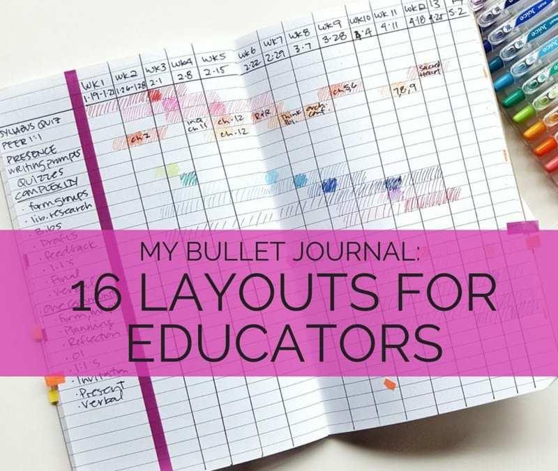 16 layouts for educators, higher ed professionals, teachers, and more! // www.prettyprintsandpaper.com