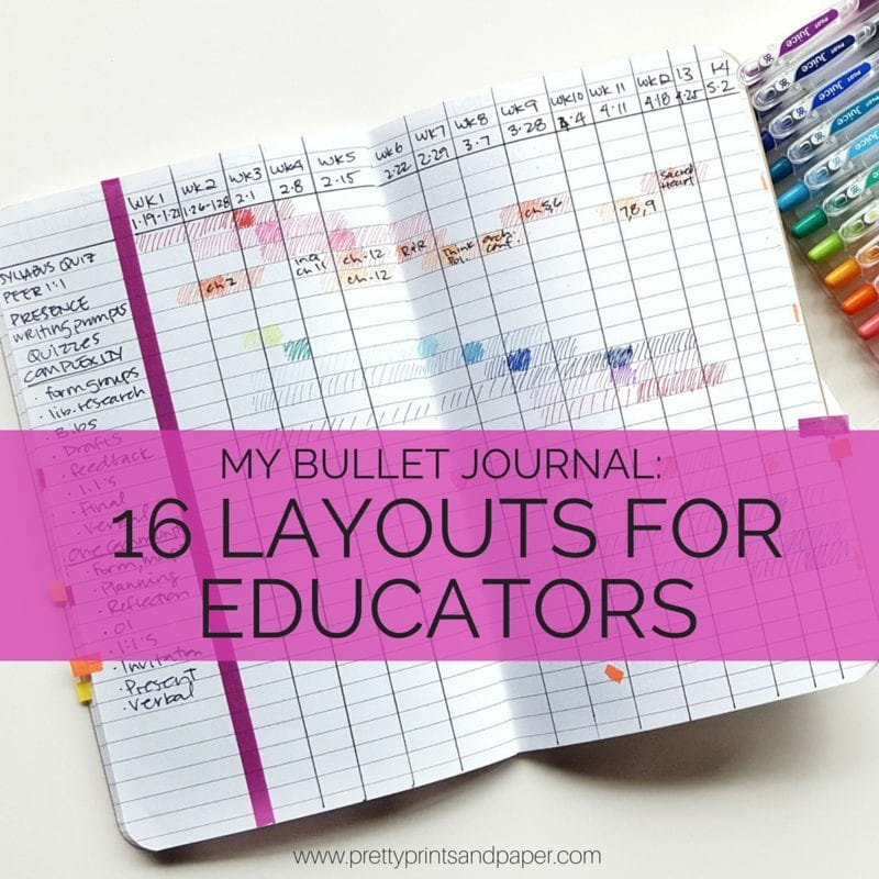 16 layouts for educators, higher ed professionals, teachers, and more! // www.prettyprintsandpaper.com