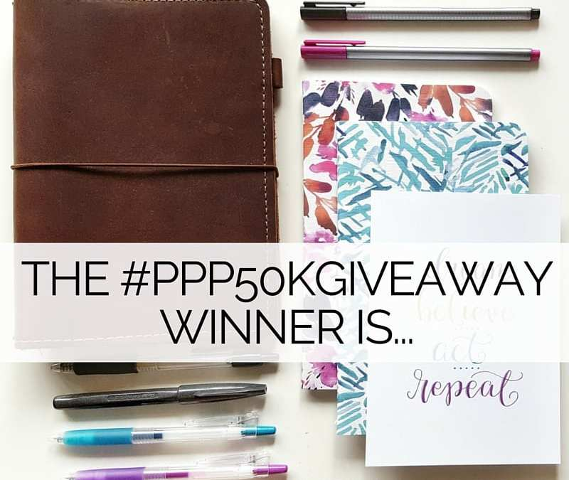 And the winner of my #PPP50KGiveaway is...