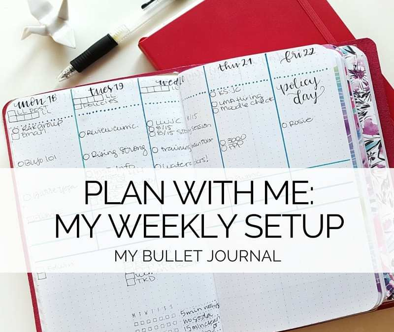 Figuring out your weekly layout? Here's how I set mine up!