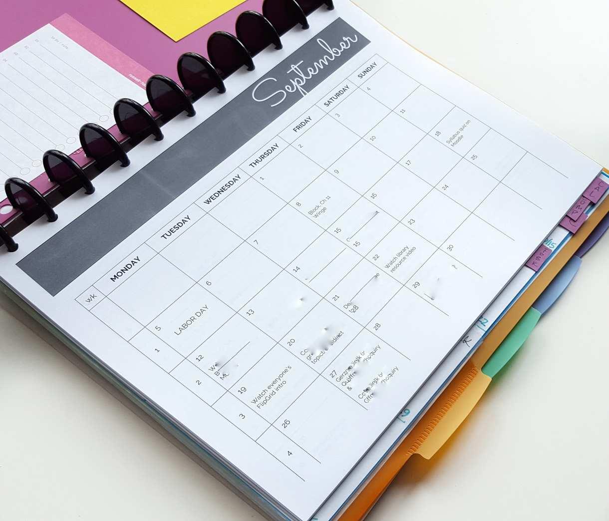 bullet journal system for teaching 2