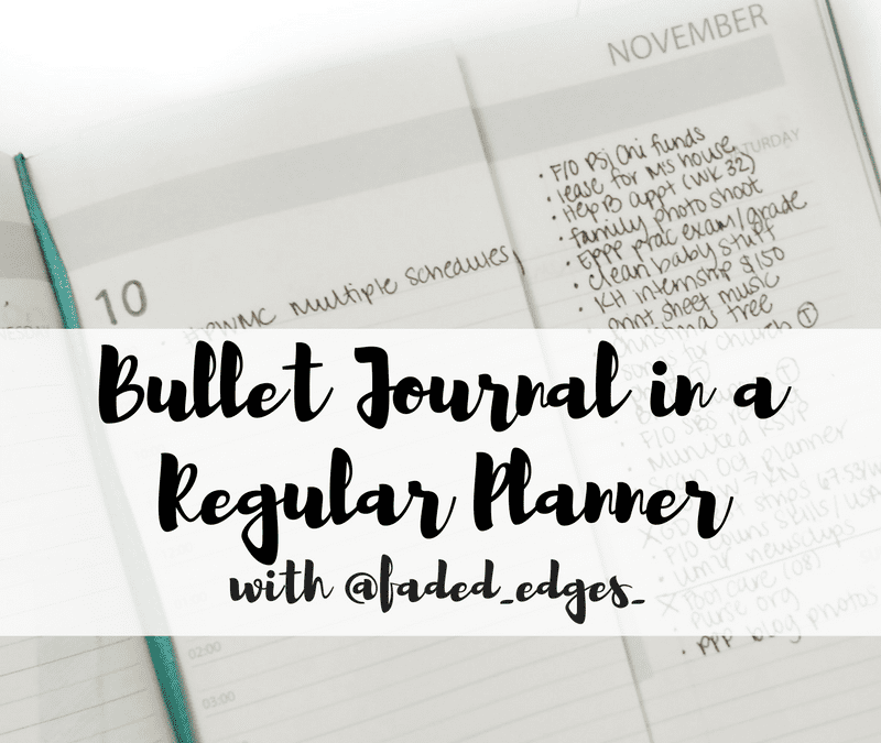 See how @faded_edges_ uses the bullet journal system for personal life and faculty work in a pre-dated planner!