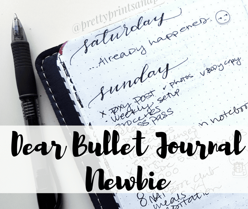 After using the bullet journal for a year and a half, I wanted to share a few thoughts with bullet journal newbies!
