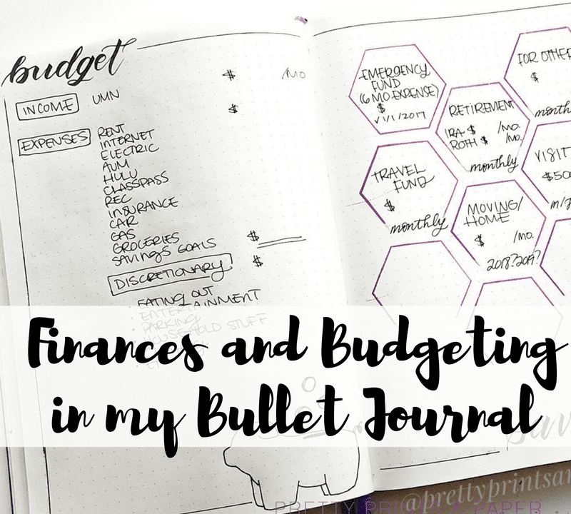 Today I share my methods for budgeting and finances in the bullet journal!
