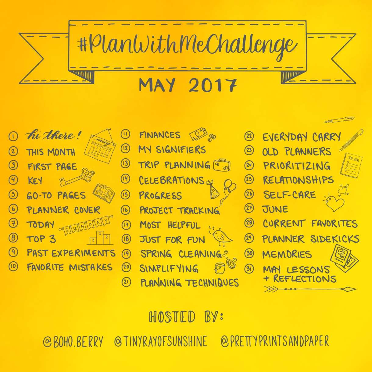 Join Kim (@TinyRayofSunshine), Kara (@Boho.Berry), and me (@prettyprintsandpaper) in another #PlanWithMeChallenge! Today I'll share how it works and how you can play along. Keep your new year energy going with this month's challenge!